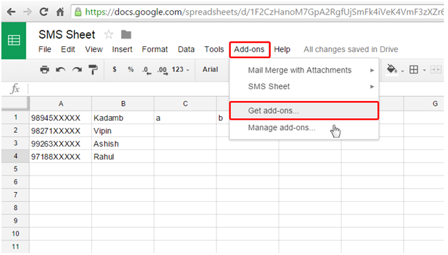 google-spreadsheet